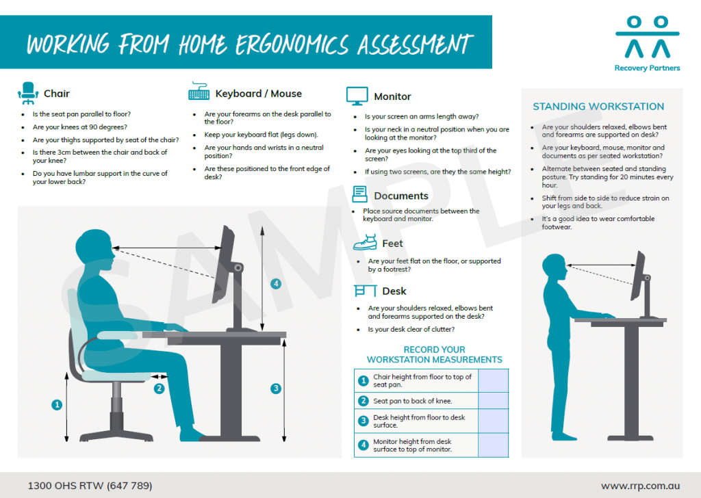 working from home ergonomic assessment tool