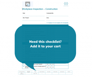 Sample Workplace Inspection Checklist - Construction