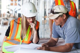 Safety consultant with builder